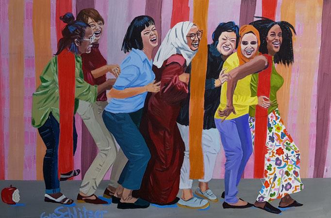 """Equality"", 80 x 120, Acryl auf Leinen, 2020"