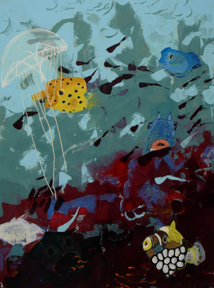 """The Sea"", 100 x 80, Acryl auf Leinen, 2018"