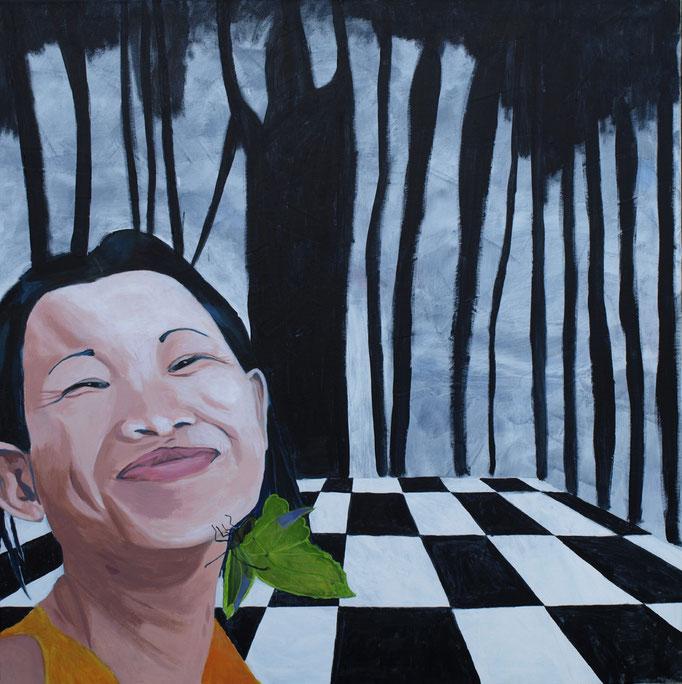 """""""Hoffnung"""", 100 x 100, Acryl auf Leinen, 2015"""