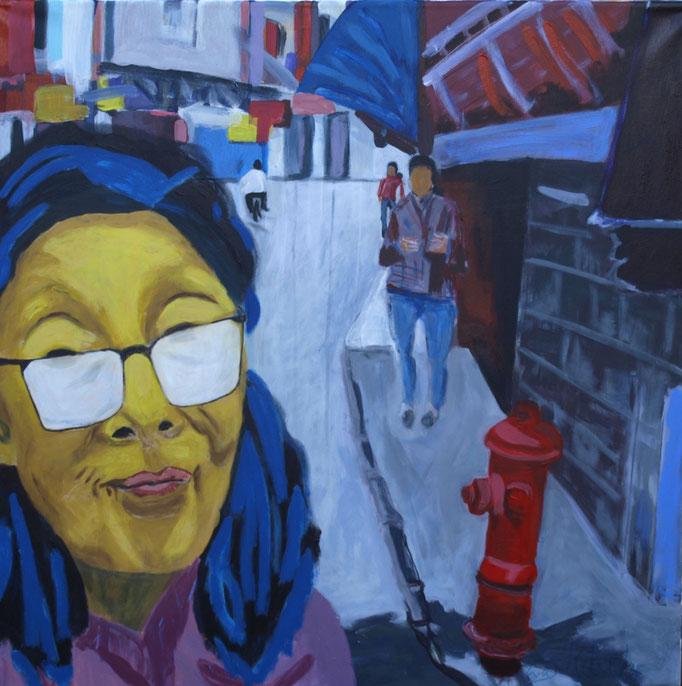 """Impressionen I"", 90 x 90, Acryl auf Leinen, 2015"