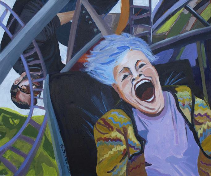 """Ups and downs"", 100 x 120, Acryl auf Leinen, 2015"