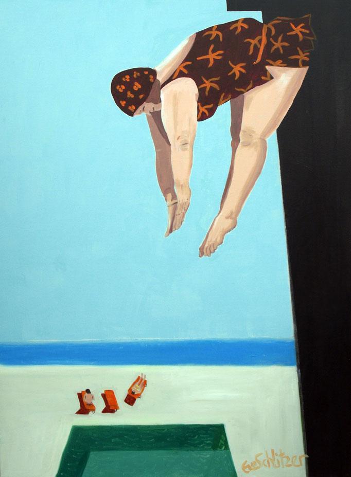 """Swimmingpool"", 100 x 80, Acryl auf Leinen, 2018"