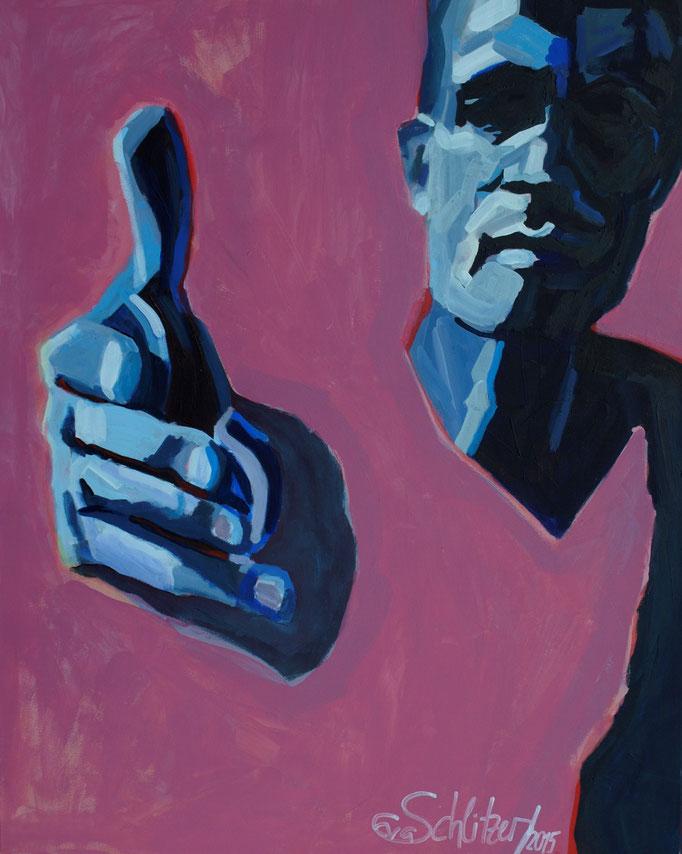"""Charity"", 100 x 80, Acryl auf Leinen, 2015"