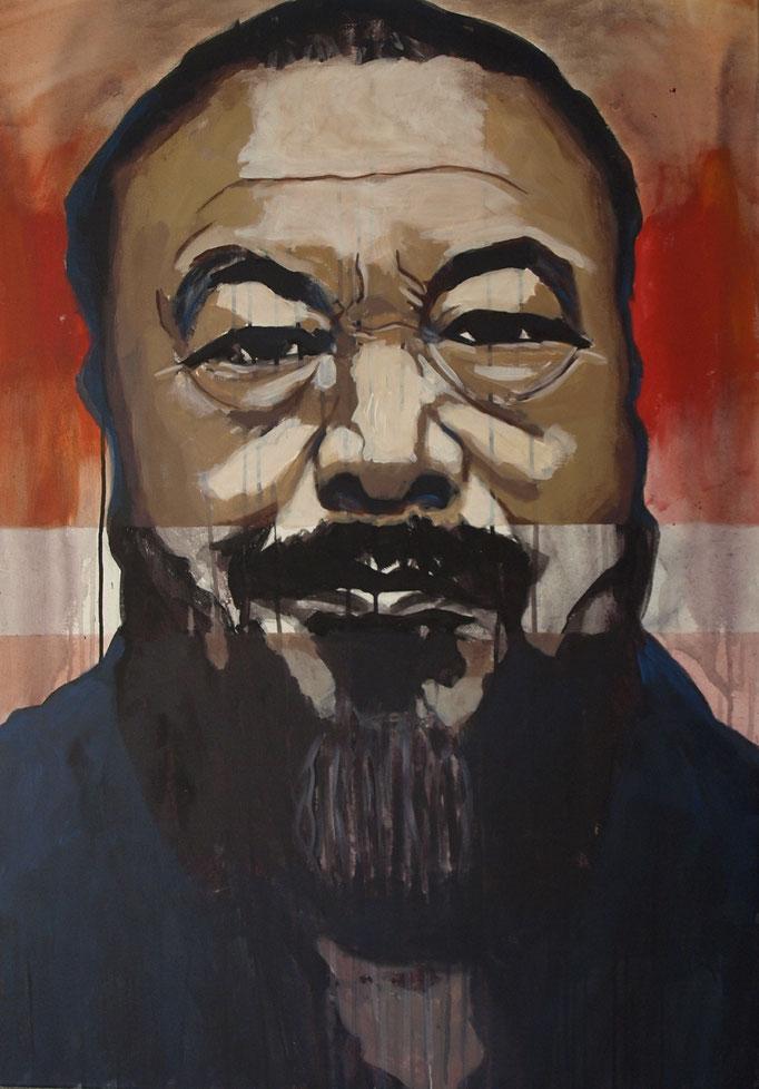 """Ai Weiwei"", 100 x 80, Acryl auf Leinen, 2017"