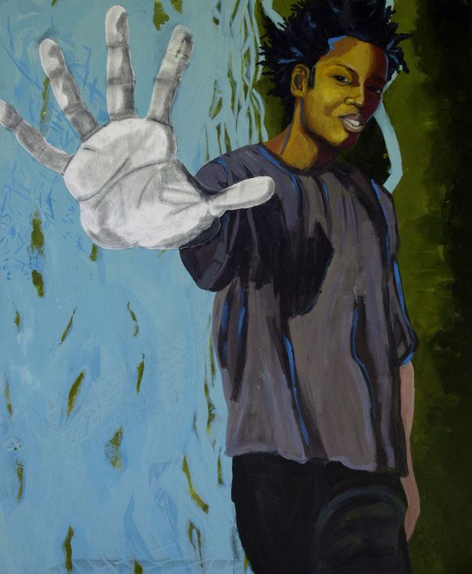 """It's enough"", 120 x 100, Acryl auf Leinen, 2016"