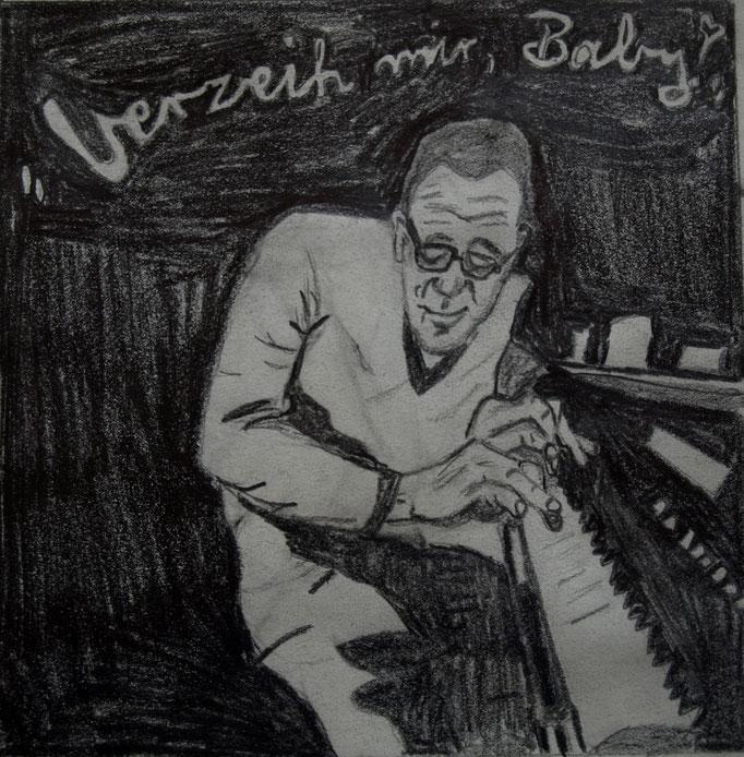 """""""Verzeih mir Baby - ich habs nicht so gemeint"""", Bleistift auf Papier, 2011"""