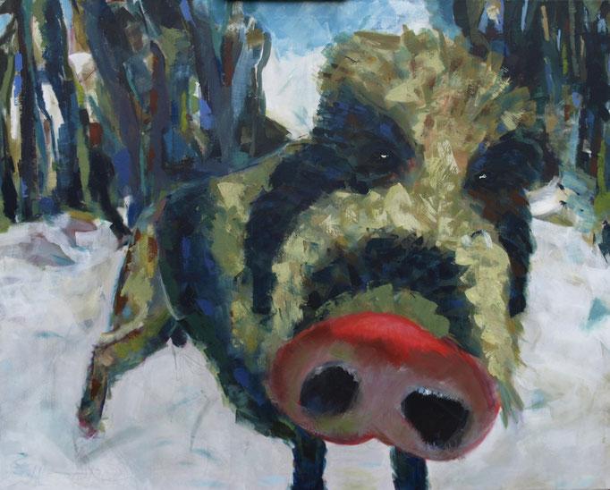 """""""Outing"""", 80 x 100, Acryl auf Leinen, 2011"""