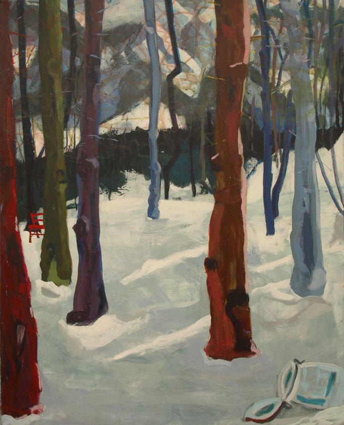 """""""Wald I"""", 100 x 80, Acryl auf Leinen, 2015"""