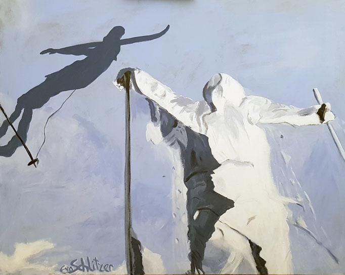 """""""Schnee I"""", 80 x 100, Acryl auf Leinen, 2020"""