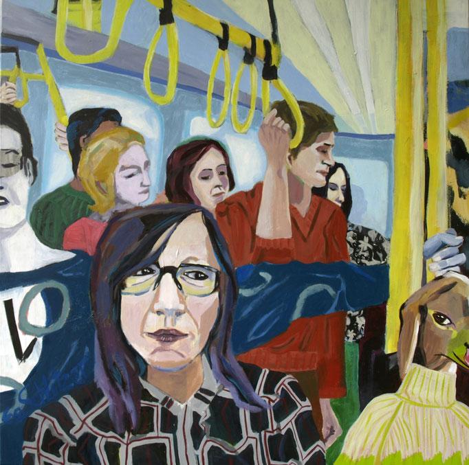 """In the morning"", 100 x 100, Acryl auf Leinen, 2020"