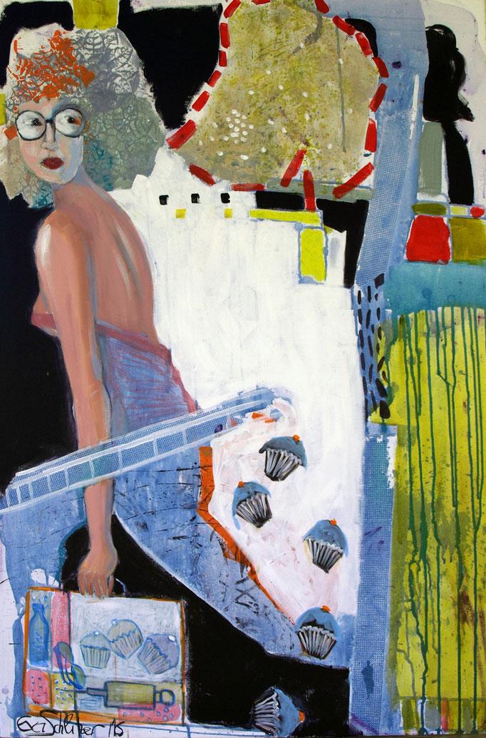 """""""Hypo"""", 120 x 80, Acryl auf Leinen, 2016"""