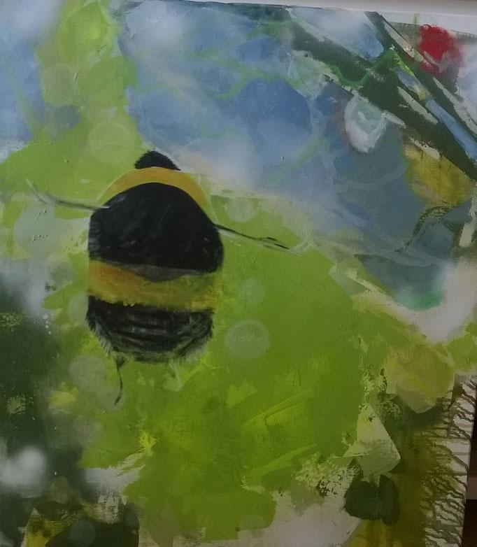 """It's springtime"", 100 x 80, Acryl auf Leinen, 2015"
