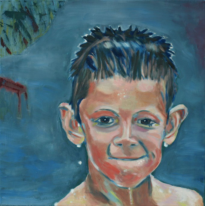 """""""Marcel"""", 40 x 40, Acryl auf Leinen, 2010"""