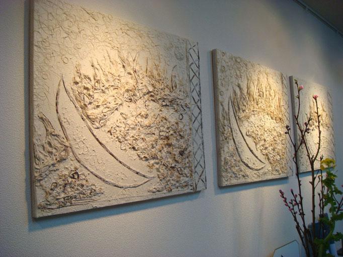 竹紙パネル(太陽・月・地球)