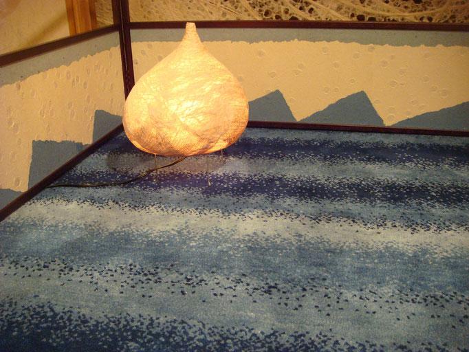 竹紙の風炉先屏風(両面使用・裏)