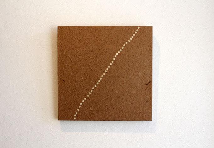 足跡 300×300×20 仕様 竹紙・ヨシ紙・木 ¥20,000+税