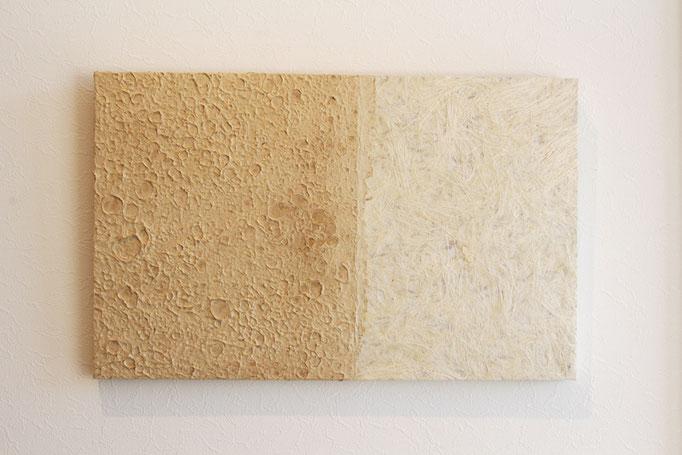 水辺 530×333×20 仕様 竹紙・ヨシ紙・木 ¥30,000+税