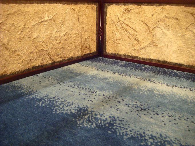 竹紙の風炉先屏風(両面使用・表)