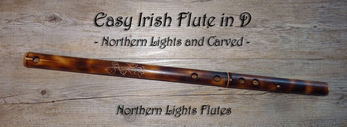 Easy Irish Flute in D - Northern Lights and Carved - Ivy