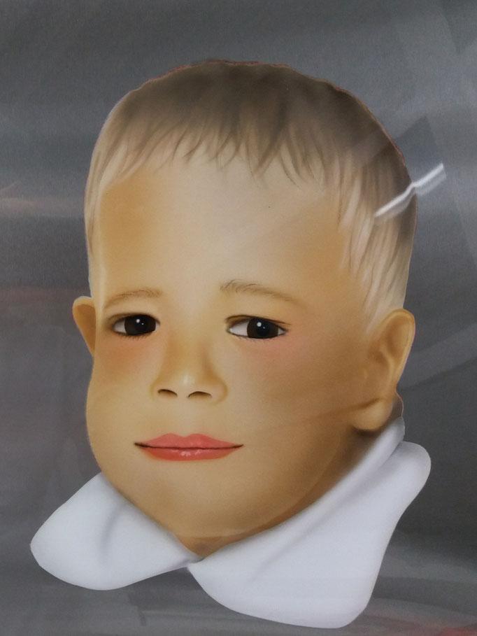 Portrait auf Magnettafel - Airbrush