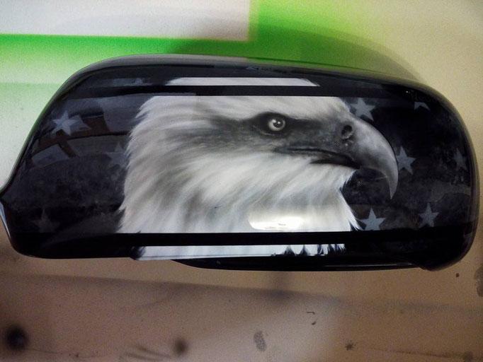 Spiegelkappe Audi A3  - Airbrush