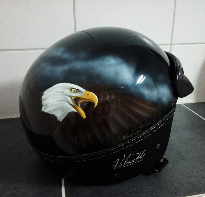 Motorradhelm Adler - Airbrush
