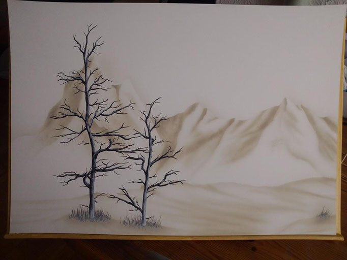 Wandgestaltung - Airbrush