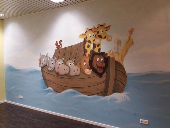 Arche Noa für die Kleinen - Airbrush