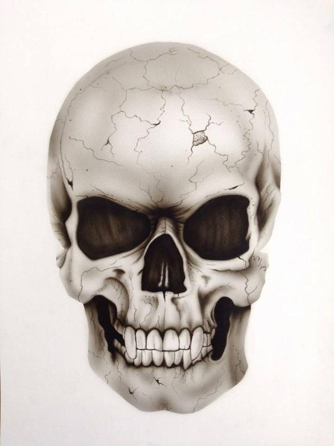 Skull auf Papier - Airbrush