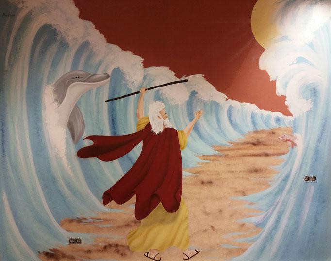 Moses Wandgestaltung für die Kleinen - Airbrush
