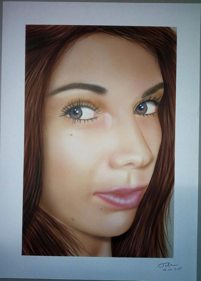 Portrait Frau - Airbrush