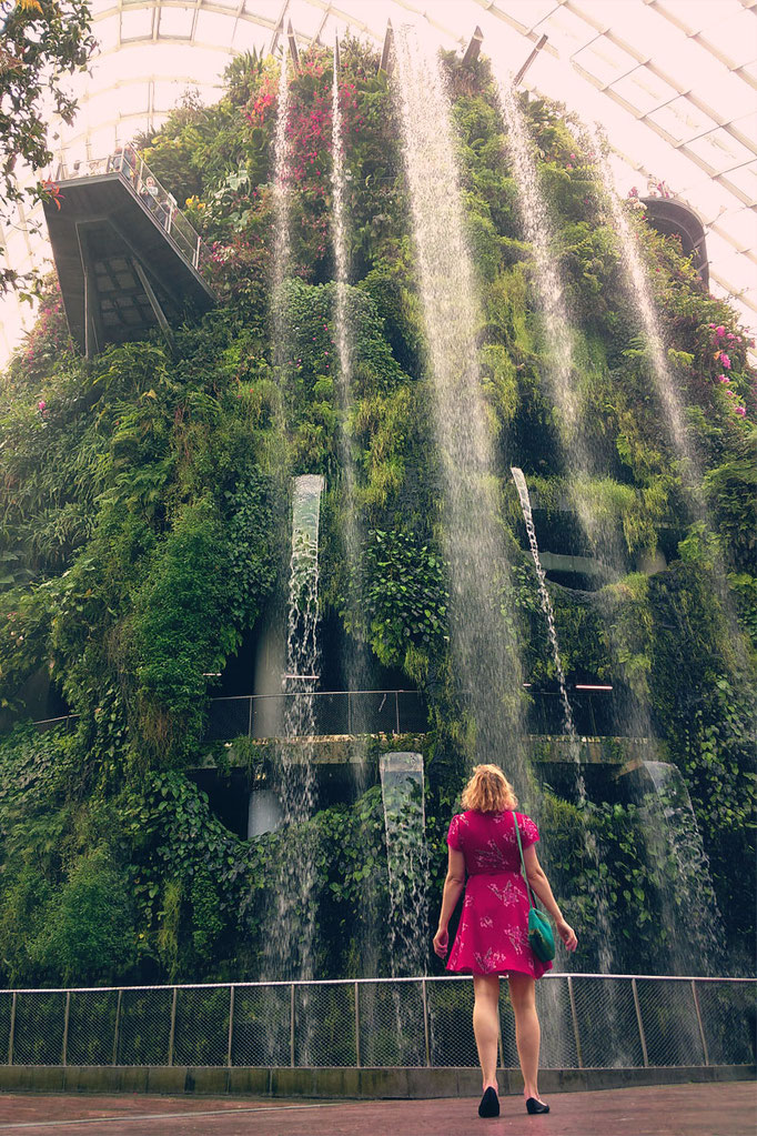 The largest indoor waterfall in the world at the Cloud Forest | Gardens by the Bay - Best Things to do and Places to see in Singapore's Wonder Park