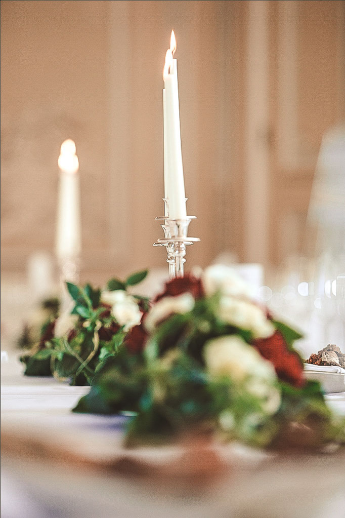 Dekoration-Hochzeitstafel