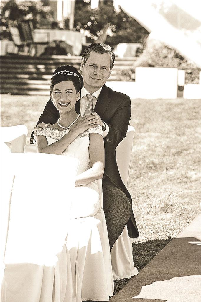 Glückliches-Brautpaar