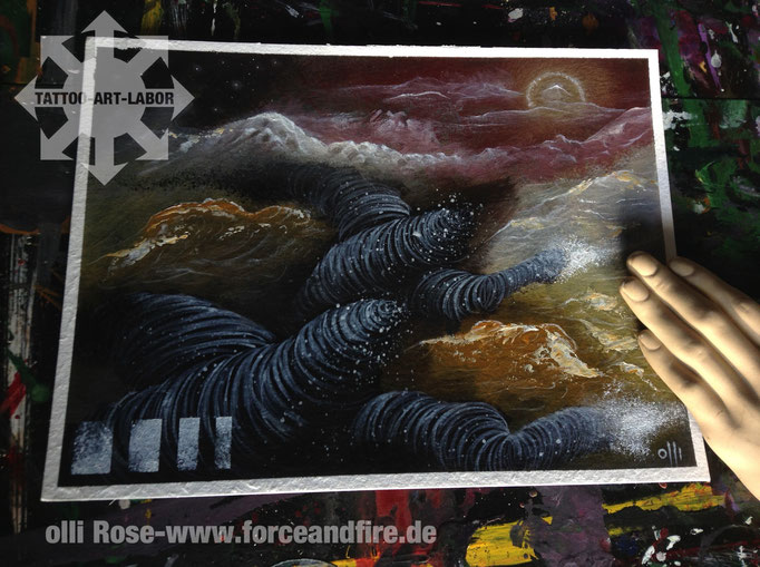 ART olli rose Tattoostudio Essen Force + Fire !