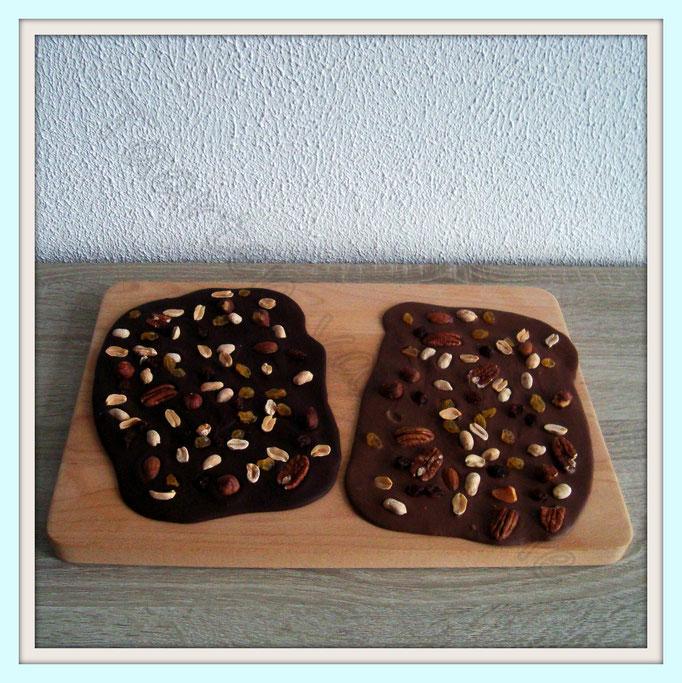 Chocolade platen met noten