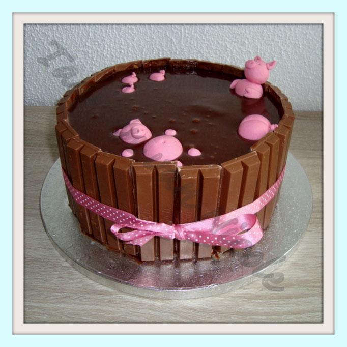 Chocoladecake, frambozenmousse & ganache