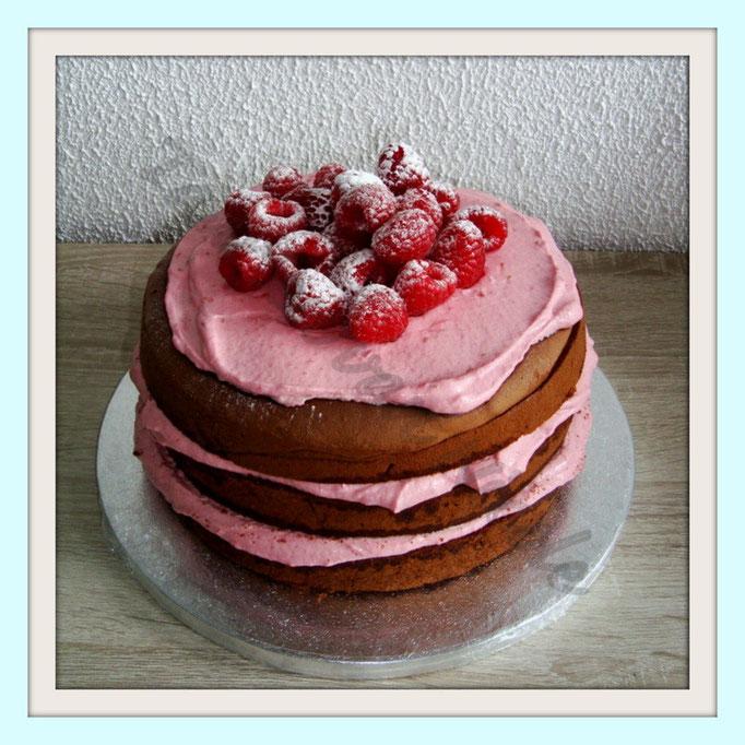 Chocolade cake & frambozencreme