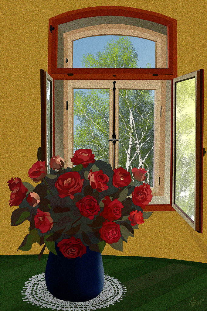 Backlighted roses (2017)