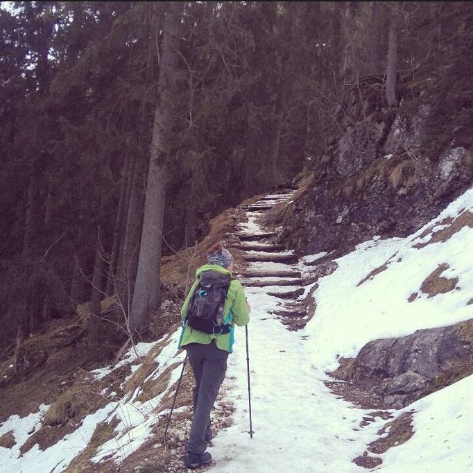 Aufstieg zum Pendling über den Pendlingweg