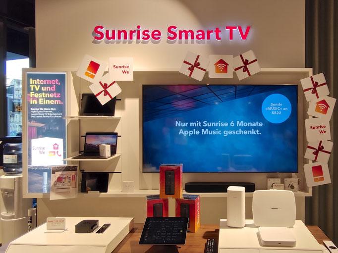 Sunrise TV Wall X-Mas Deko Schweiz