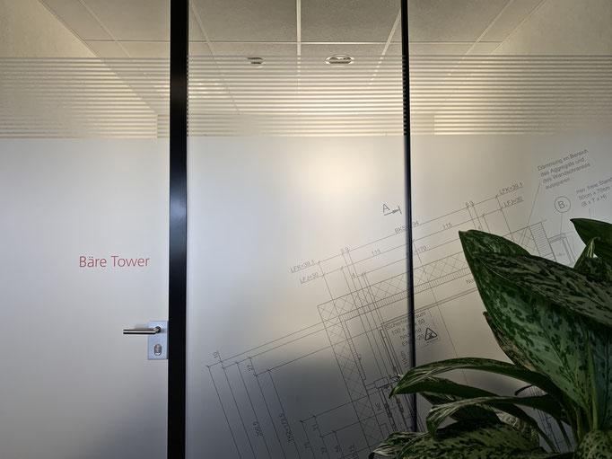 Schindler Aufzüge AG - Bern - Glastrennwand Gestaltung & Beschriftung