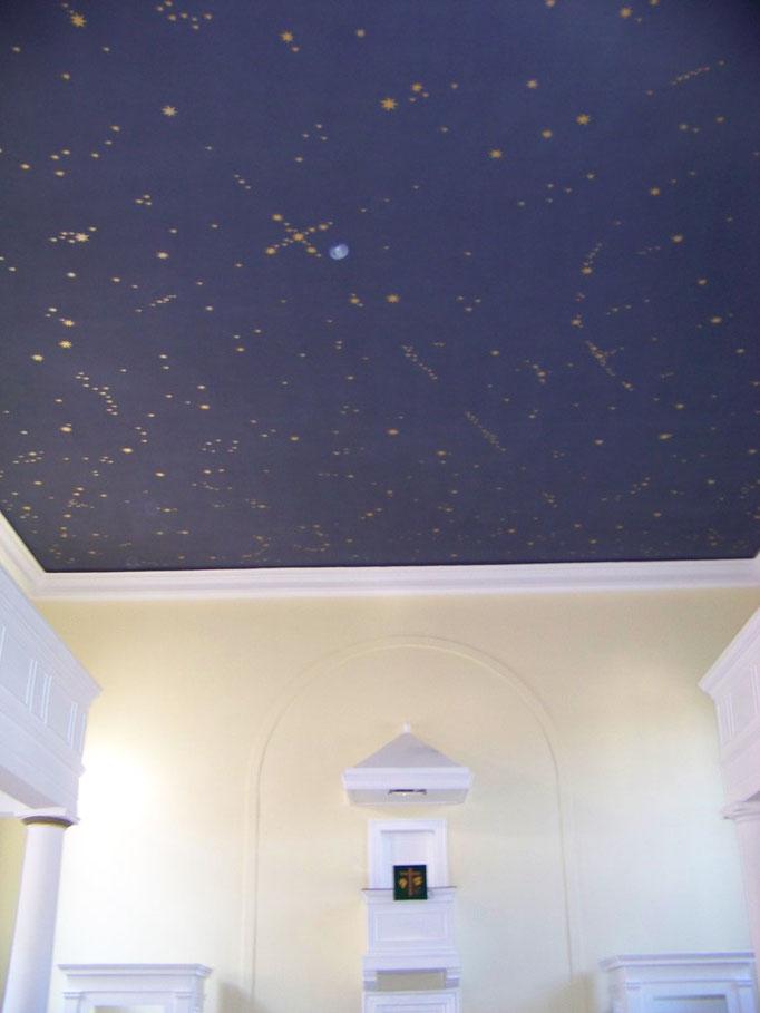 Sternenhimmel, Deckengestaltung ev. Kirche Ruchheim, 2011