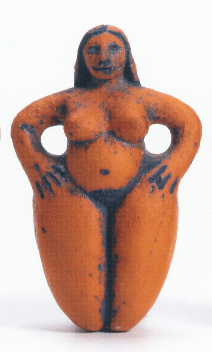 kleine Göttin rot, roter Ton, 8 cm