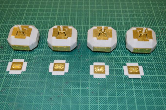 Landing-Pods aus Photoetch-Parts