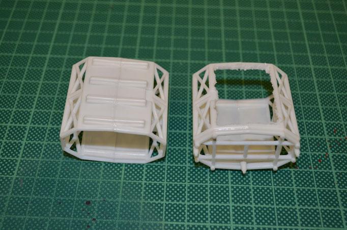 links Kit-Part, rechts mit dem Ausschnit
