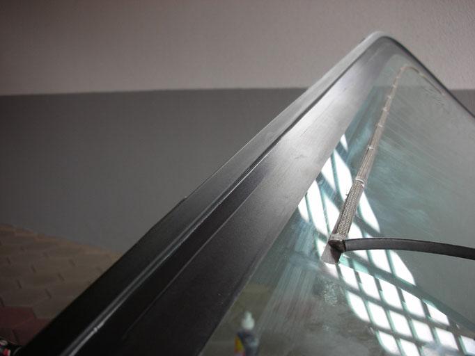 Detail Heckklappen-Fensterrahmen