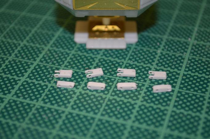 Hier kommen Scratch-Parts aus Styrene für die Landing-Pods