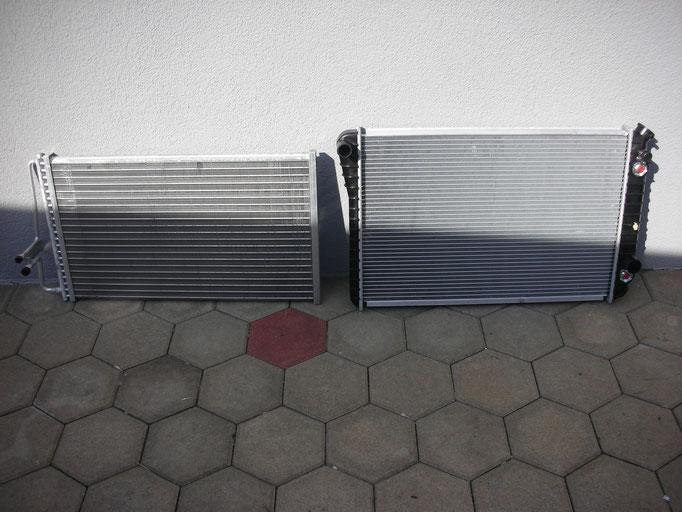 Der neue Kühler und Klima-Kondensator