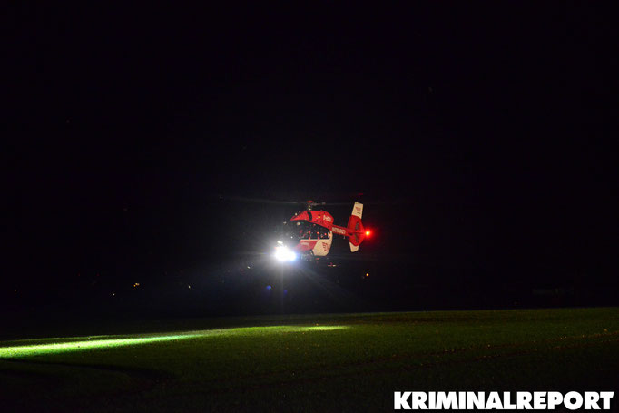 Der Rettungshubschrauber des Unfallkrankenhaus Marzahn.|Foto: Kevin Wuske